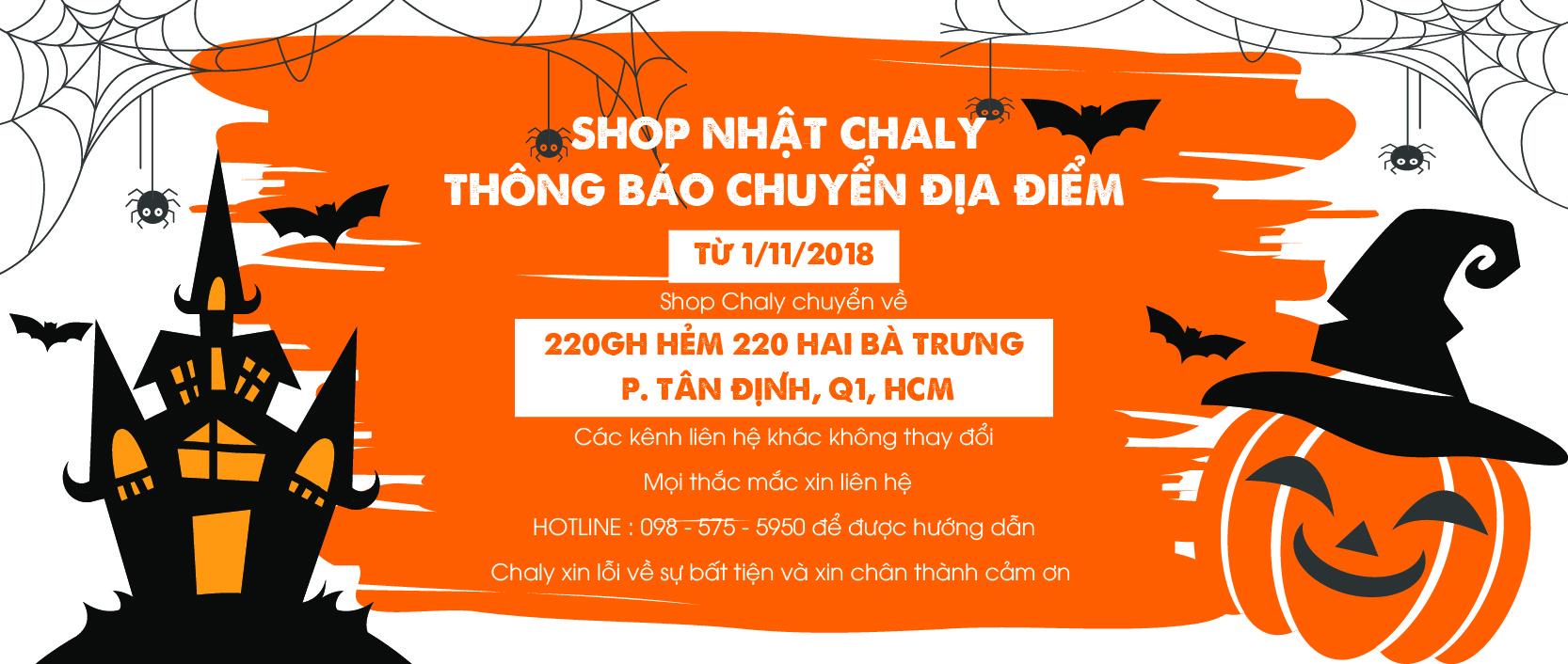 Shop Nhật Chaly đổi địa chỉ