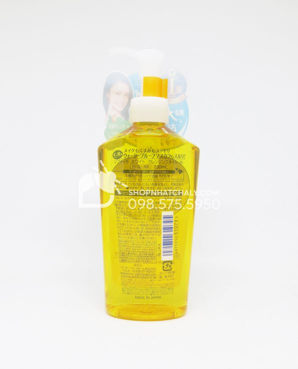 Dầu tẩy trang Kose Softymo White Cleansing Oil - thông tin sản phẩm