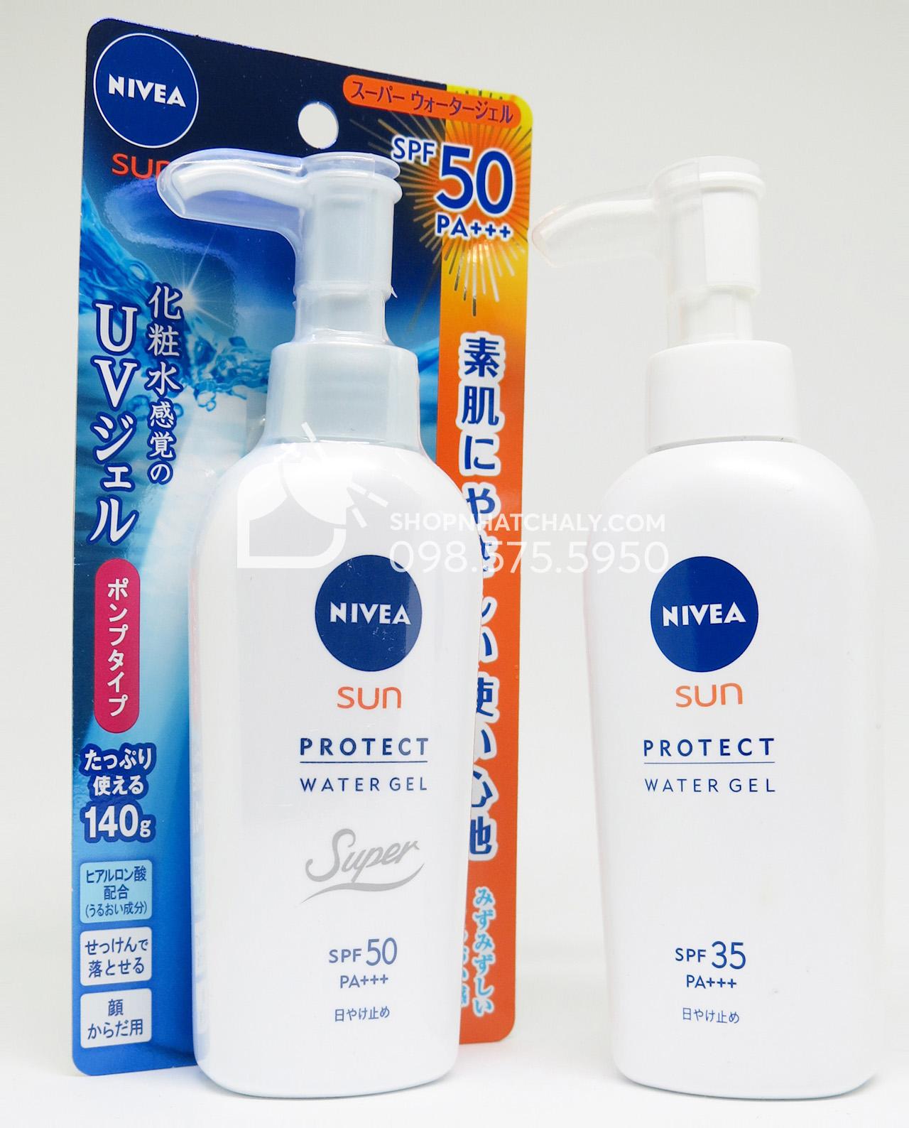 Kem chống nắng dưỡng da toàn thân Nivea Nhật Sun Protect Water Gel 140gr SPF 35 - SPF 50