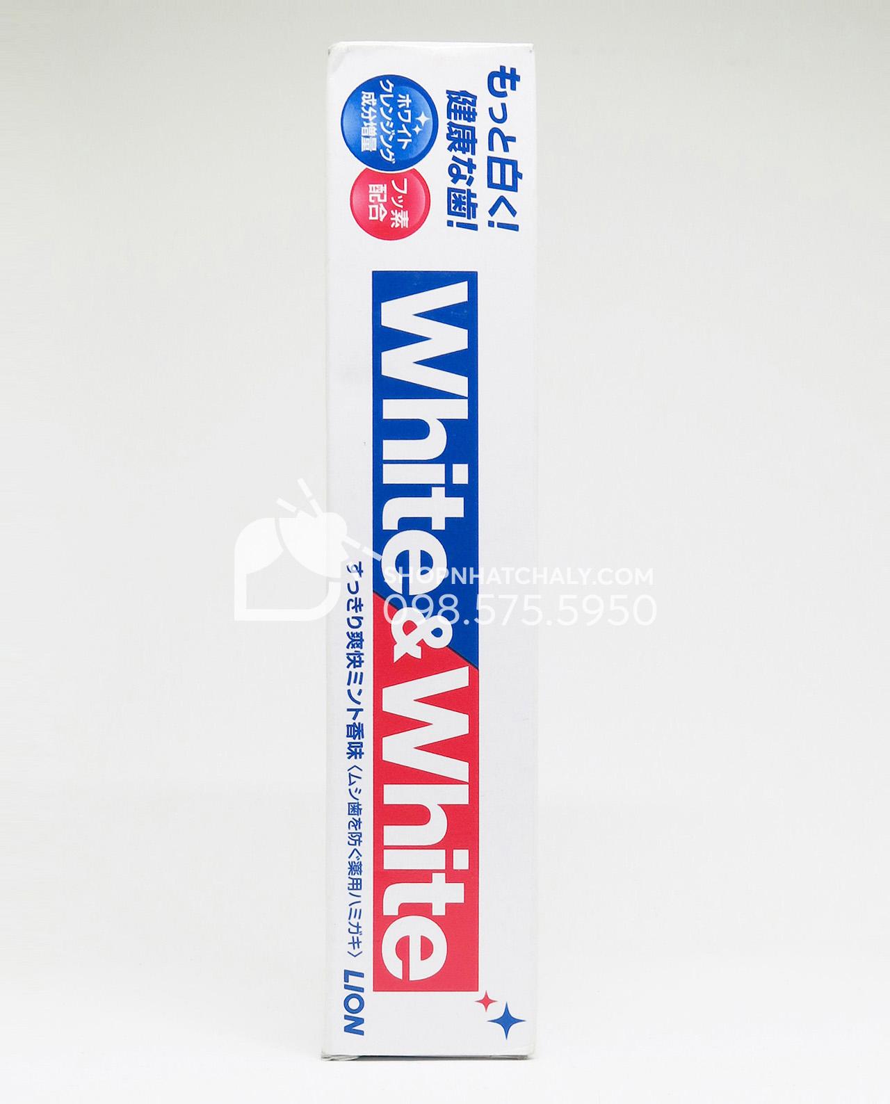 Kem đánh răng White & White Nhật Lion 150gr