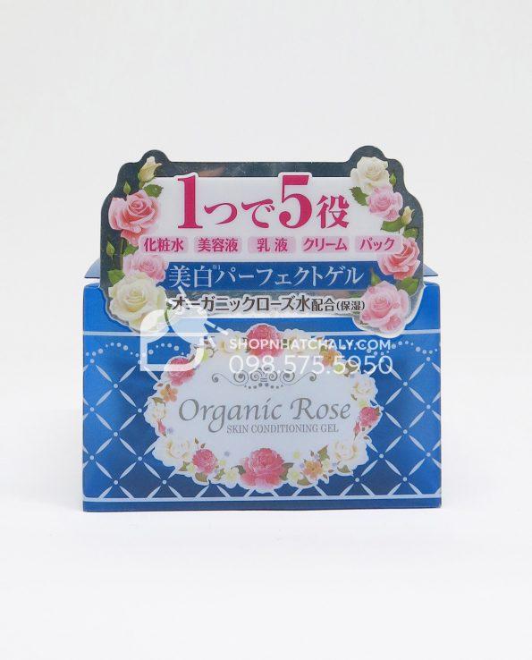 Kem dưỡng da Organic Rose Meishoku Conditioning Gel 90gr - Màu xanh trắng da