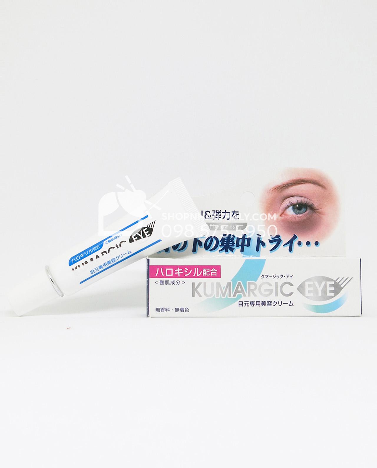 Kem trị thâm quầng mắt Kumargic Eye Nhật 20gr - Bên trong