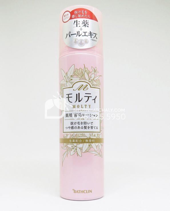 Lotion kích thích mọc tóc chống rụng tóc Nhật Molty hồng 180ml