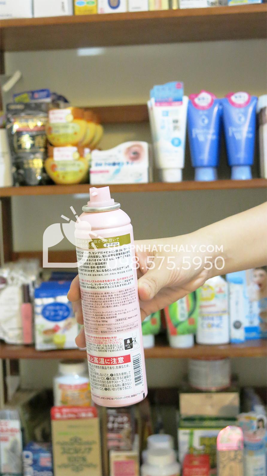 Lotion kích thích mọc tóc chống rụng tóc Nhật Molty 180ml sau trên tay