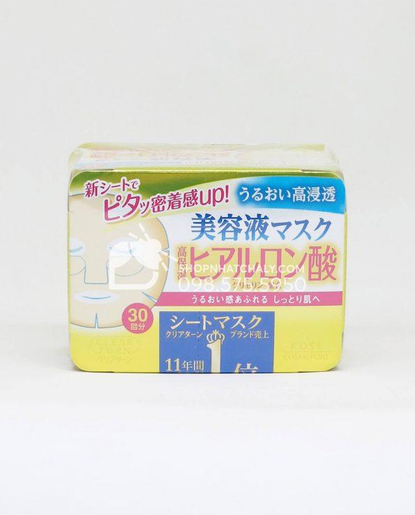 Mặt nạ Kose Cosmeport Clear Turn hộp 30 miếng Nhật Bản - Hyaluronic cấp nước thông tin sản phẩm