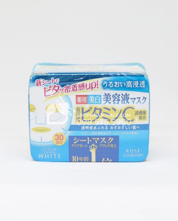 Mặt nạ Kose Vitamin C hộp 30 miếng
