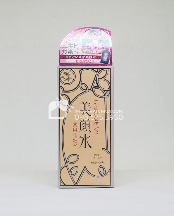 Nước hoa hồng trị mụn Bigansui Medicated Skin Lotion Meishoku 90ml