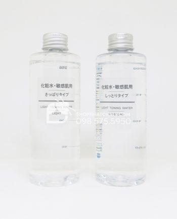 Nước hoa hồng cho da nhạy cảm Muji Light Toning Water 200ml Nhật Bản