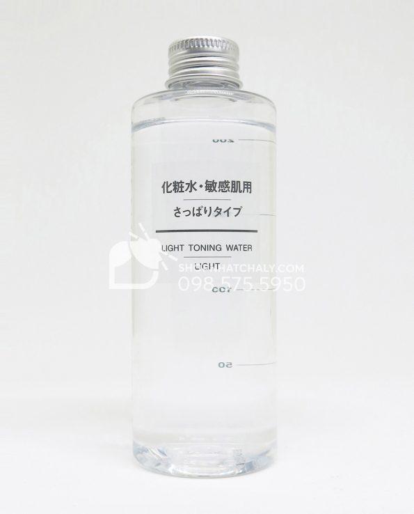 Nước hoa hồng cho da nhạy cảm Muji Light Toning Water Light 200ml