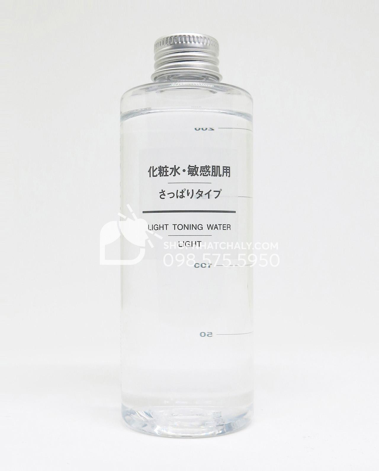 Nước hoa hồng cho da nhạy cảm Muji Light Toning Water High Moisture 200ml