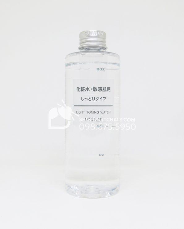 Nước hoa hồng cho da nhạy cảm Muji Light Toning Water Moisture 200ml Nhật Bản