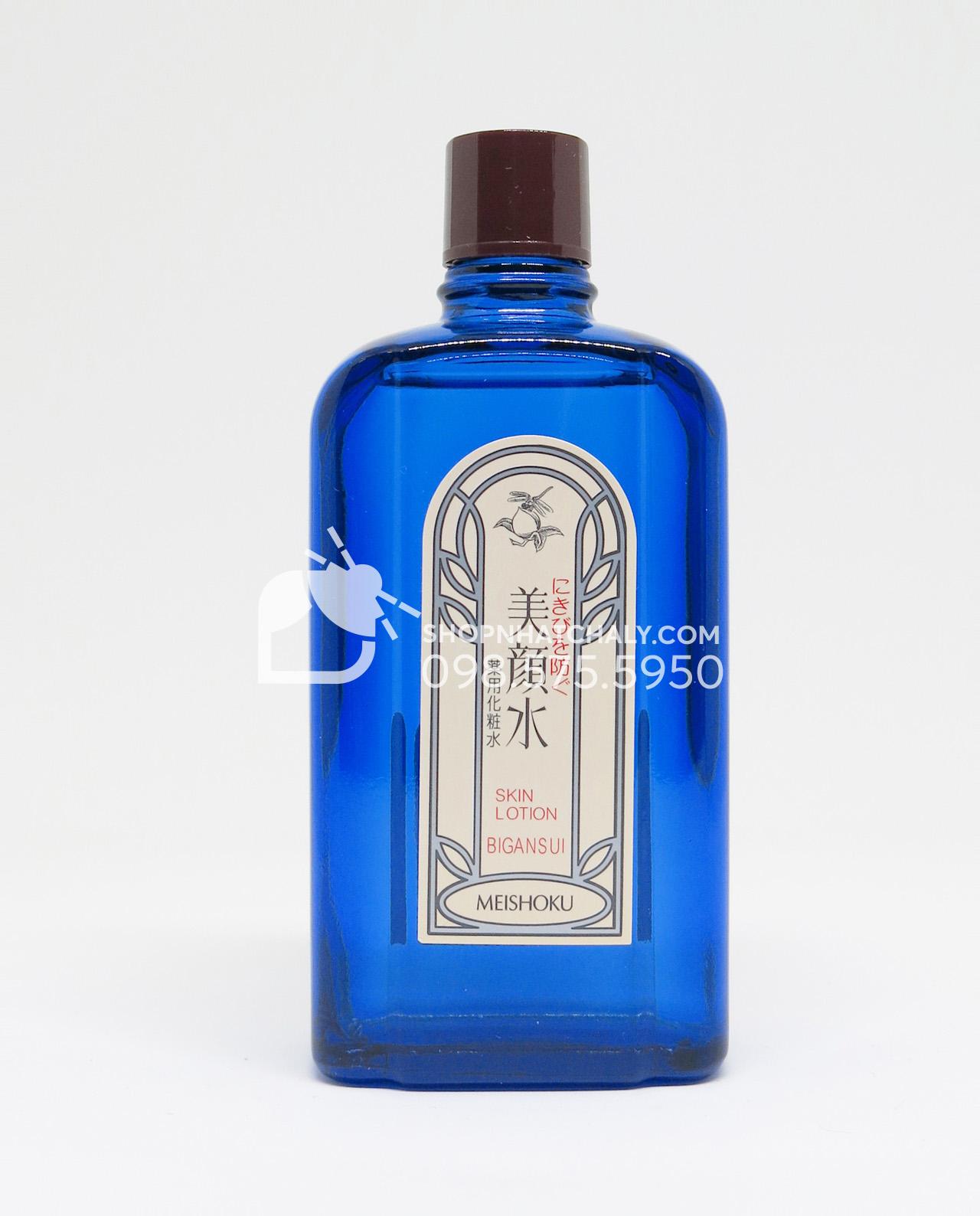 Nước hoa hồng trị mụn Bigansui Medicated Skin Lotion Meishoku 90ml dạng chai thủy tinh, hơi dễ vỡ nhưng vô cùng chắc chắn, kích thước nhỏ gọn, dễ dàng mang theo khi du lịch và skin care đều nè