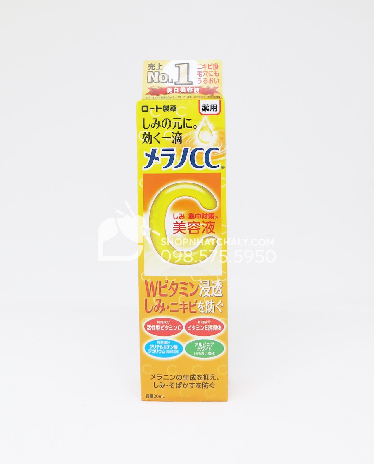 Serum Melano CC Vitamin C Rohto Nhat Ban 20ml mẫu mới