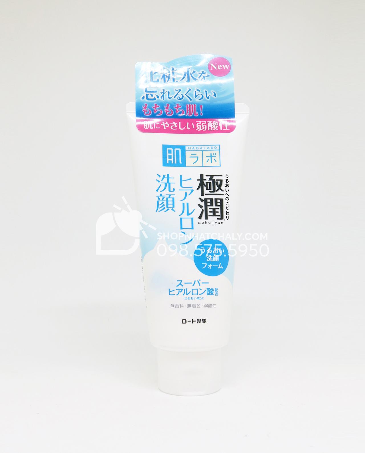 Sữa rửa mặt tạo bọt Hada Labo Nhật Bản dưỡng ẩm Gokujyun Foaming Cleanser tuýp 100gr mẫu cũ