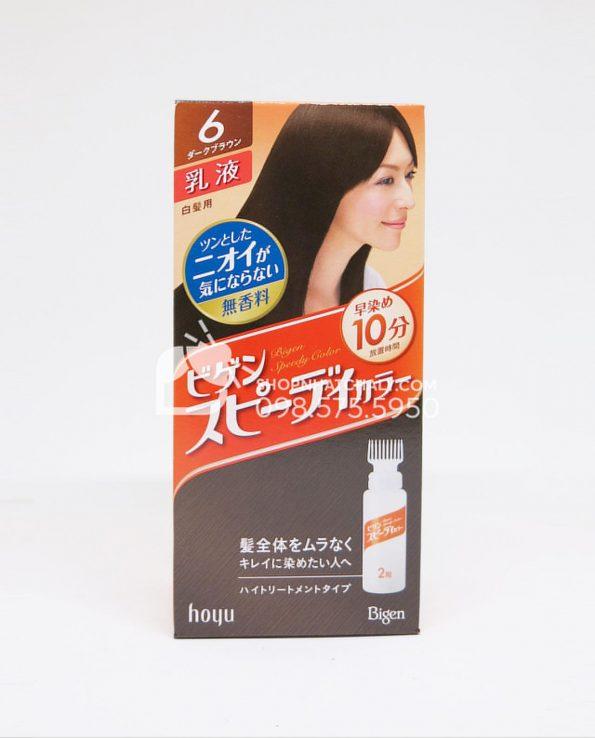 Thuốc nhuộm tóc thảo dược Bigen Hoyu nâu hạt dẻ đậm 6G