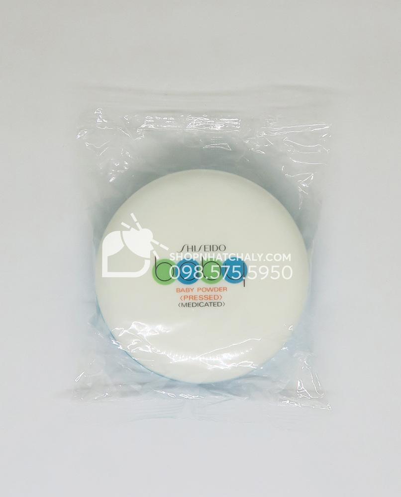 Phấn phủ Shiseido Baby Powder - 1 pack 2 cộng dụng. Mẹ dùng làm phấn phủ trang điểm. Bé dùng làm phấn rôm giúp khô da, chống hăm