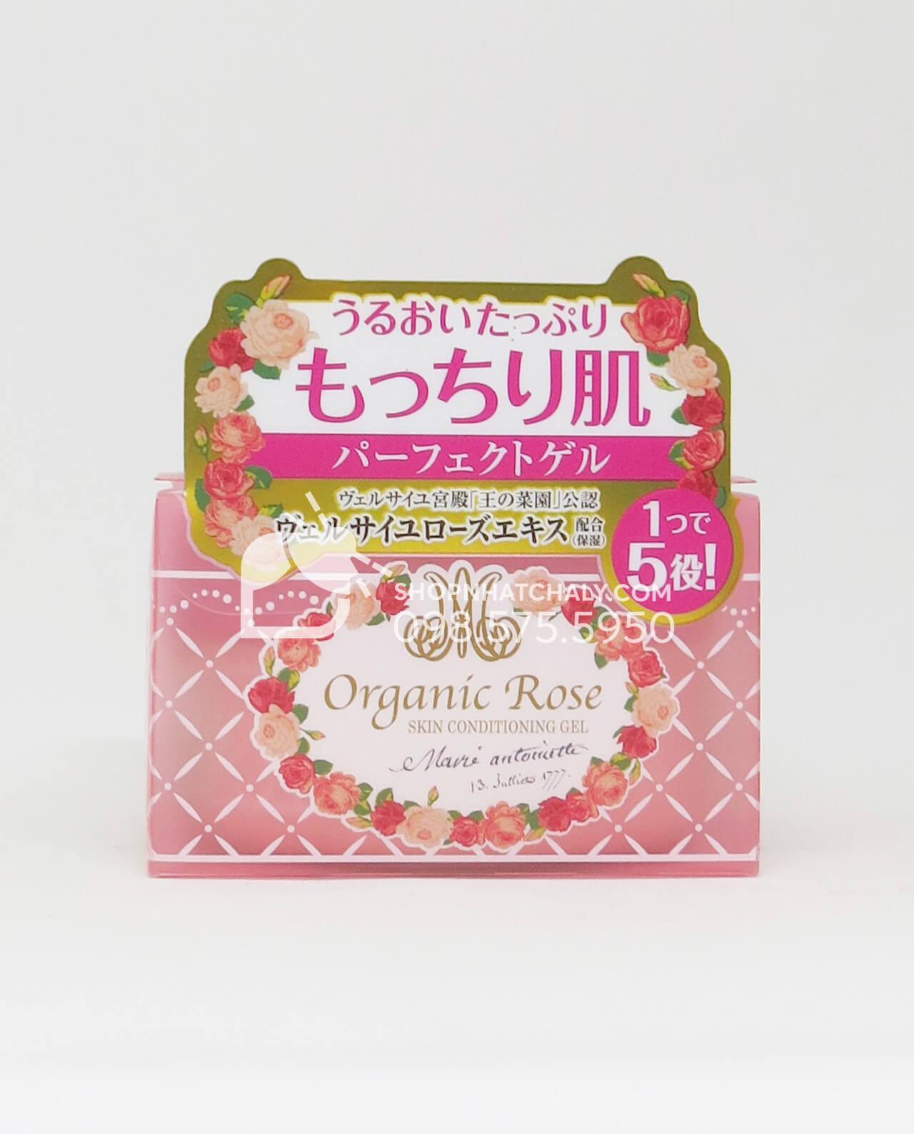 Kem dưỡng da Organic Rose Meishoku Conditioning Gel 90gr - Hồng dưỡng ẩm se khít lỗ chân lông
