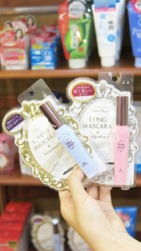 Mascara Dolly Wink Nhật Bản trên tay