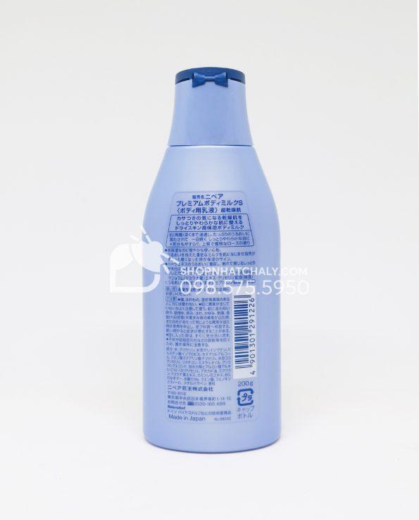 Sữa dưỡng thể Nivea Nhật Bản 200gr Premium Body cho da khô sau