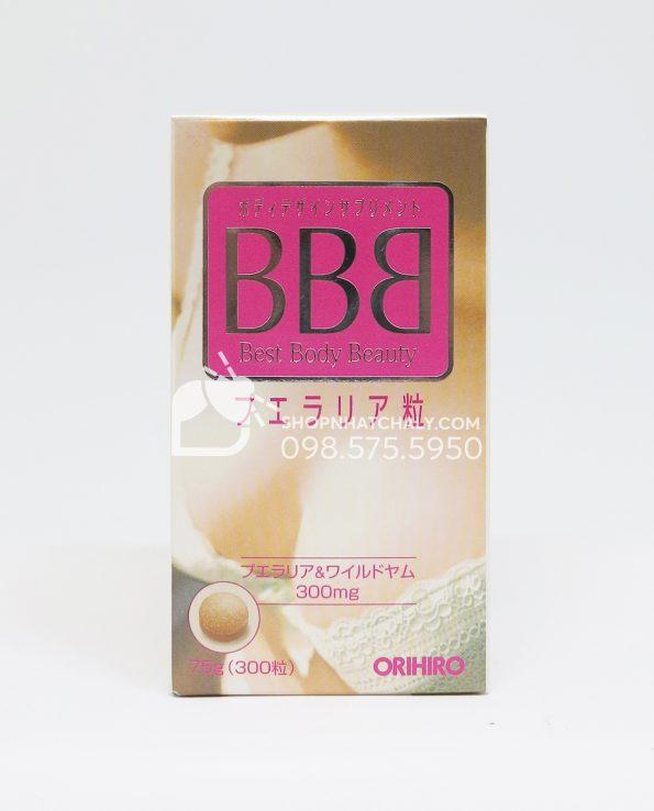 Thuốc nở ngực BBB Orihiro Best Body Beauty tăng kích thước vòng 1