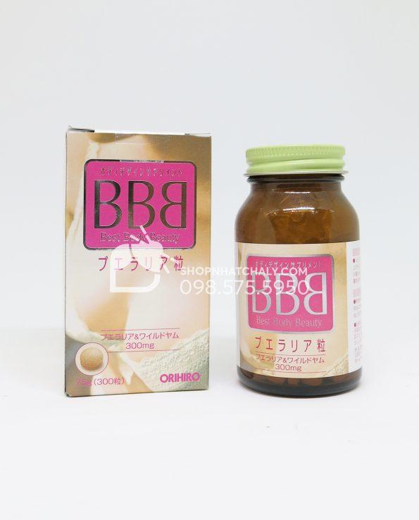 Thuốc nở ngực BBB Orihiro Best Body Beauty tăng kích thước vòng 1 bên trong