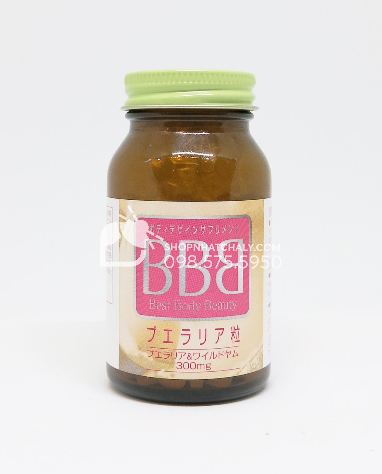 Thuốc nở ngực BBB Orihiro Best Body Beauty tăng kích thước vòng 1 lọ có 300 viên, dùng trong khoảng 1 tháng