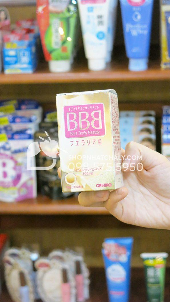 Thuốc nở ngực BBB Orihiro Best Body Beauty tăng kích thước vòng 1 trên tay