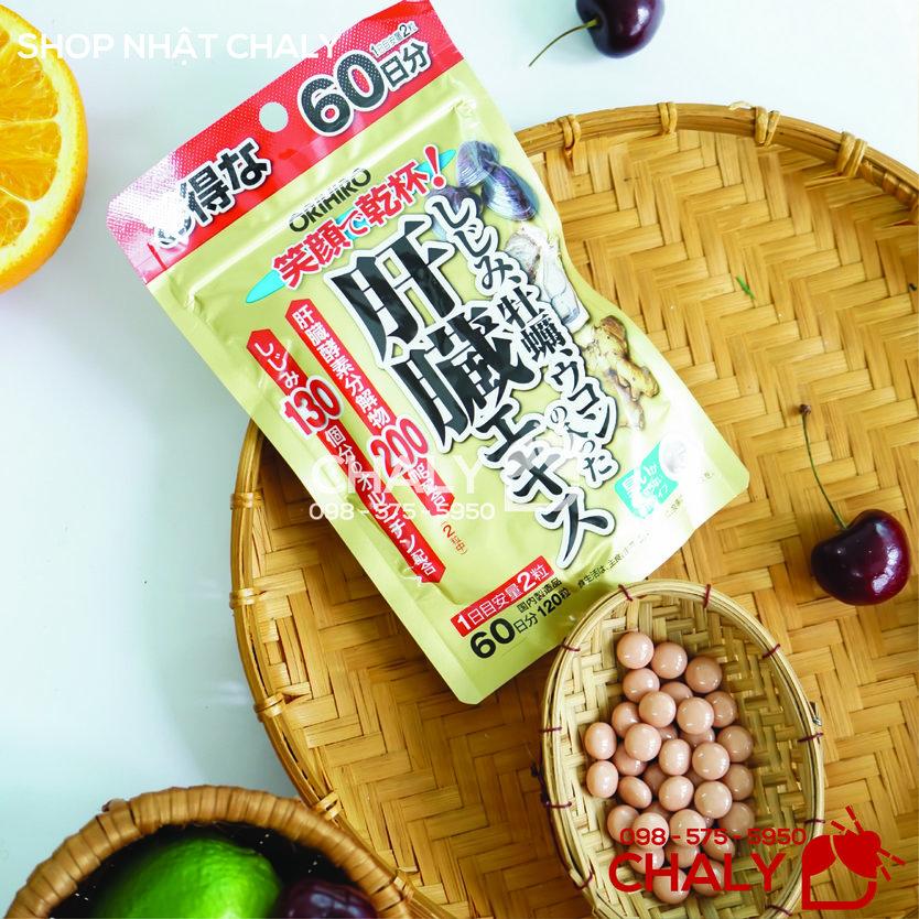 Viên giải độc gan Orihiro Nhật dạng viên kích cỡ nhỏ, không mùi, vị hơi ngọt dễ uống
