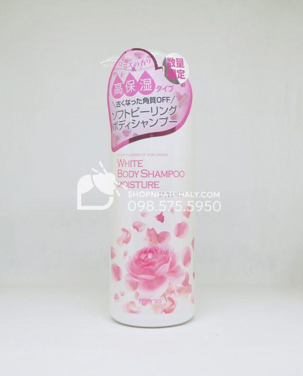 (Limited) Sữa tắm trắng da Manis White Body Shampoo hương hoa hồng