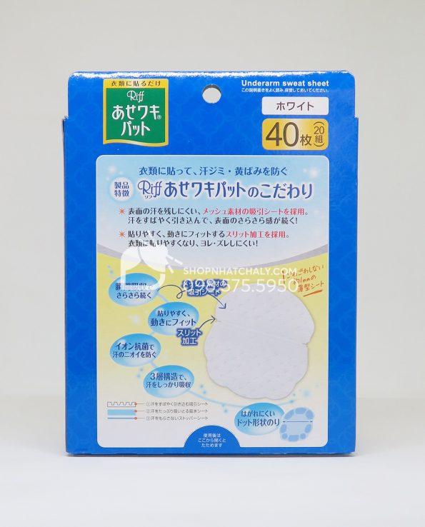 Miếng dán thấm mồ hôi nách Riff Nhật Bản - thông tin sản phẩm