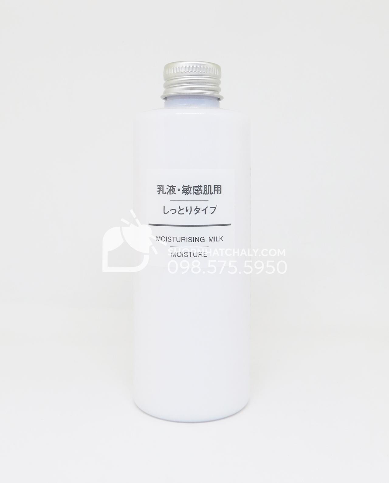 Sữa dưỡng da Muji Moisturising Moisture với độ dưỡng ẩm tốt – dành cho da khô, hỗn hợp thiên khô, da thiếu ẩm.
