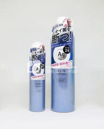 Xịt khử mùi hôi chân Deodorant Foot Spray 24 của Nhật 40g và 142g