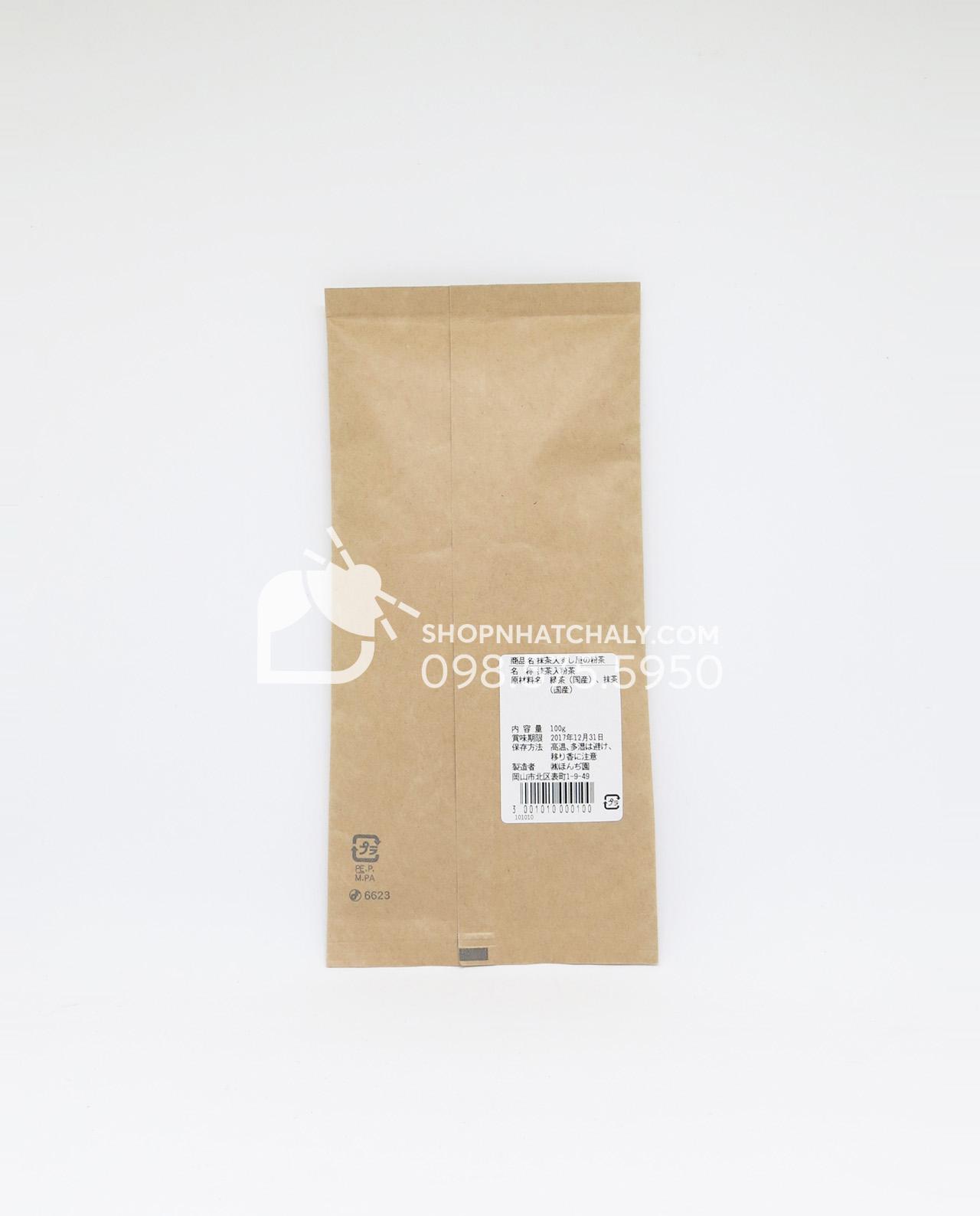 Bột trà xanh đắp mặt Honjien của Nhật 100g - thông tin sản phẩm