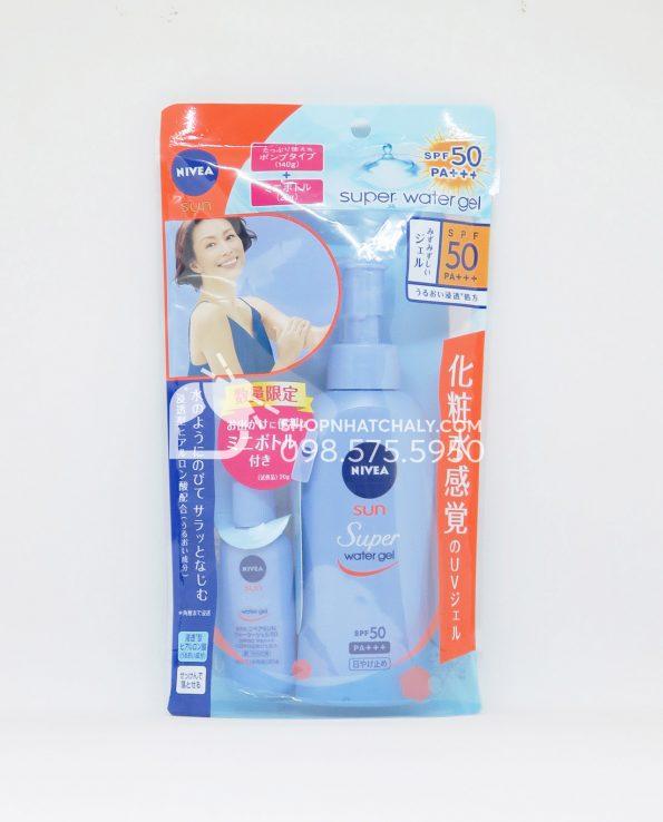 Kem chống nắng toàn thân Nivea Nhật Sun Protect Water Gel SPF 50 140gr mẫu mới 2019