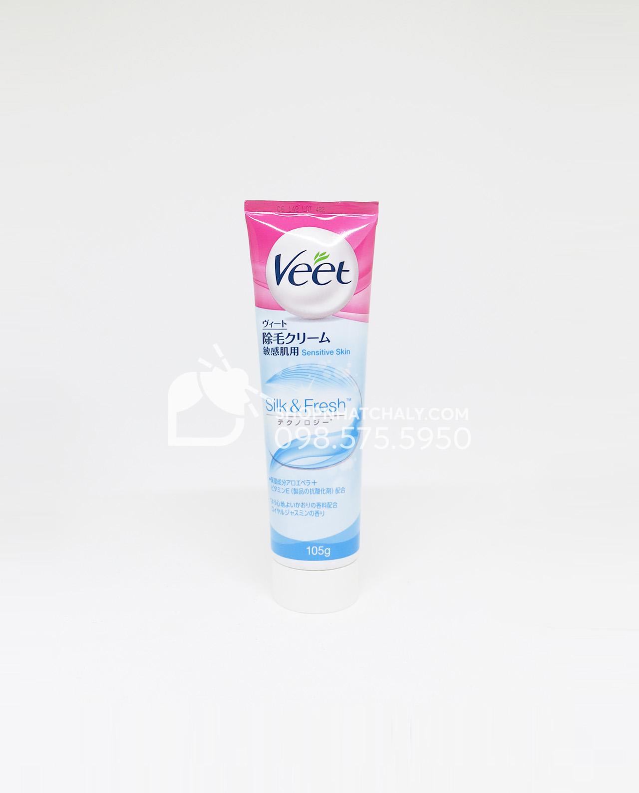 Kem tẩy lông Veet dành cho da nhạy cảm hàng Nhật nội địa chính hãng
