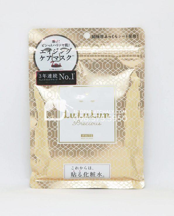 Mặt nạ Lululun Precious White màu vàng 7 miếng mẫu mới