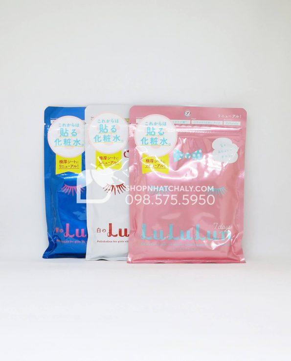 Mặt nạ Lululun Mask 7 miếng Nhật Bản (Màu trắng – Màu hồng – Màu vàng)