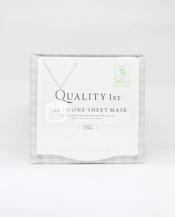 Mặt nạ Quality 1st All in One Sheet Mask màu trắng full size 30 miếng