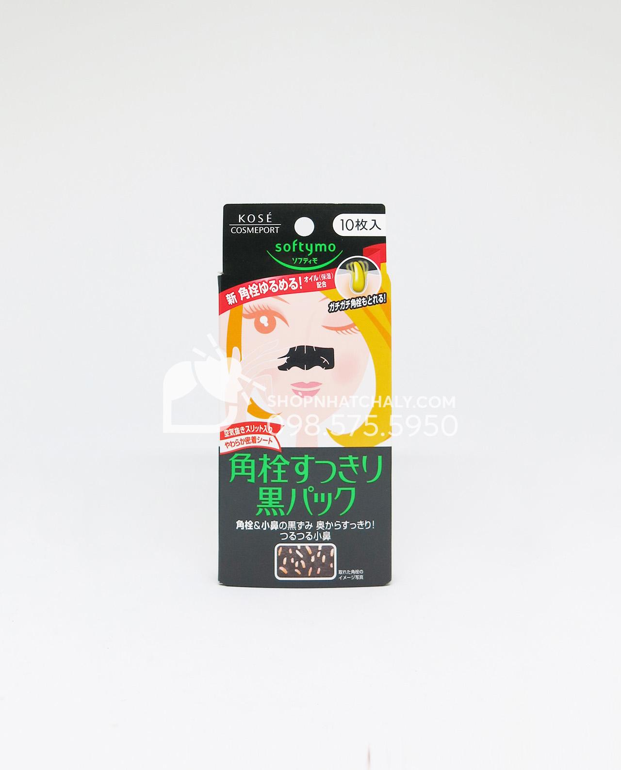 Miếng lột mụn đầu đen Kose Softymo Nhật hộp 10 miếng