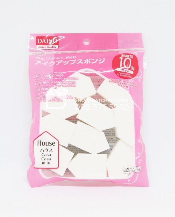 Mút trang điểm Daiso Nhật túi 10 miếng