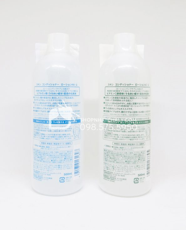Nước hoa hồng Skin Conditioner Lotion Pack 500ml sau