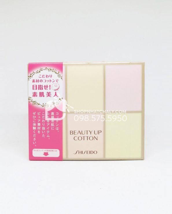 Bông tẩy trang Shiseido Beauty Up Cotton Nhật Bản