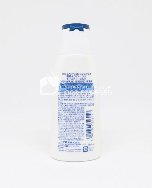 Sữa dưỡng thể trắng da Nivea Refresh Plus Whitening Nhật sau