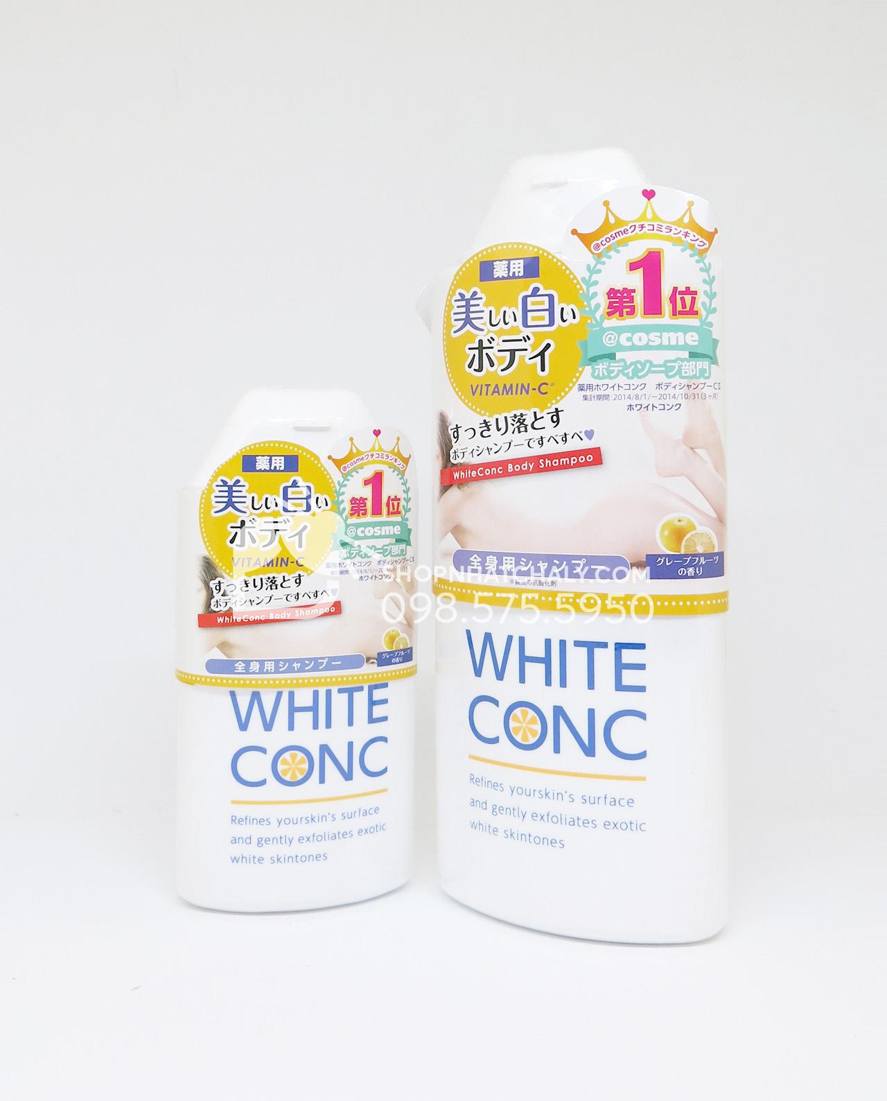 Sữa tắm trắng da toàn thân White Conc Body Shampoo Nhật Bản 150ml và 360ml