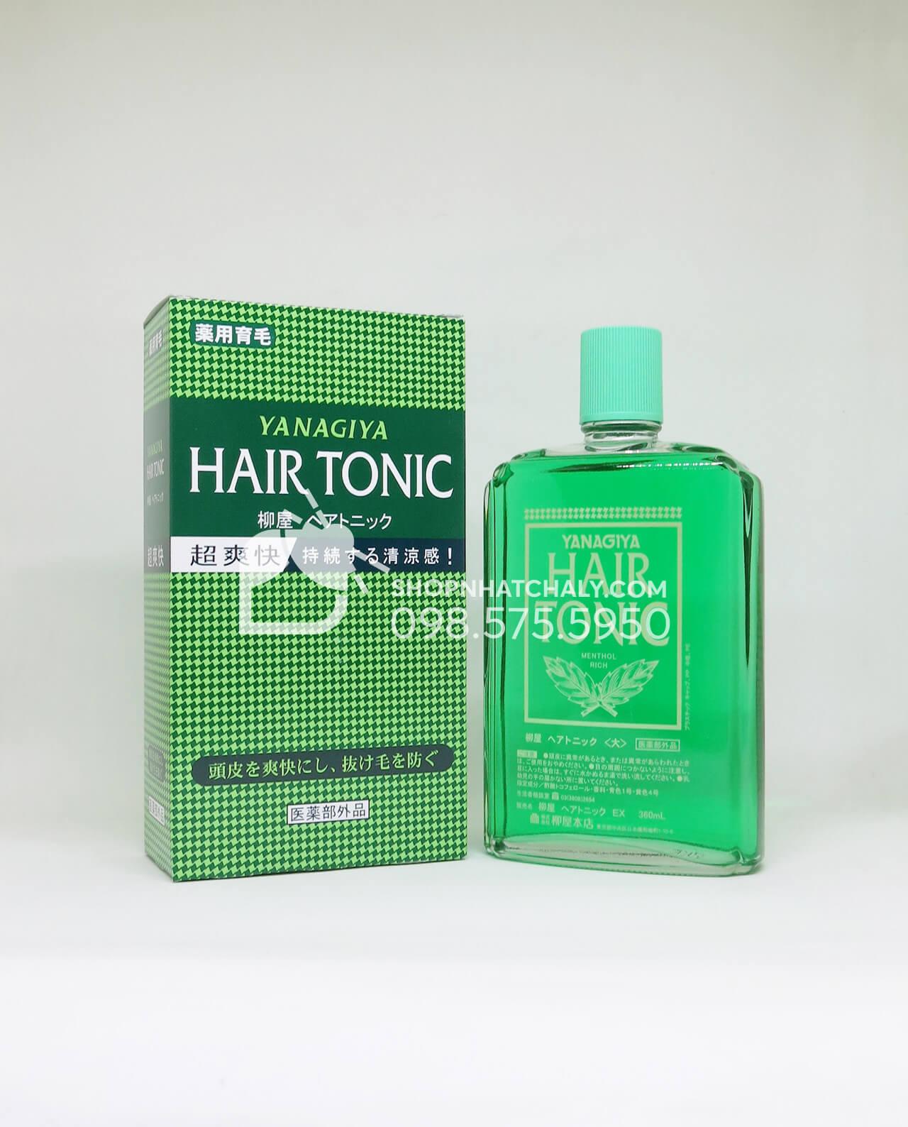 Thuốc chống rụng tóc và kích thích mọc tóc trị hói Nhật Bản Hair Tonic Yanagiya 360ml chai màu đậm