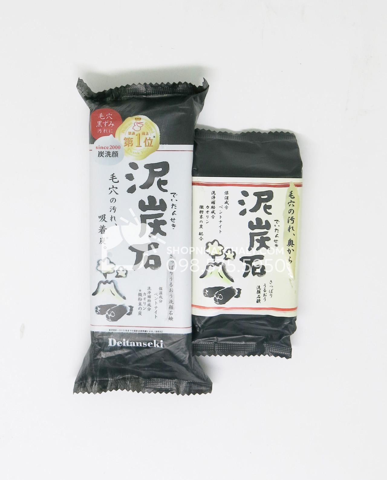 Xà phòng rửa mặt trị mụn Deitanseki - Than hoạt tính loại 100gr và 180gr