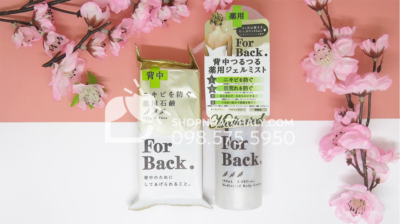 Lotion xịt trị mụn lưng For Back kết hợp rất hiệu quả cùng xà bông For Back Nhật