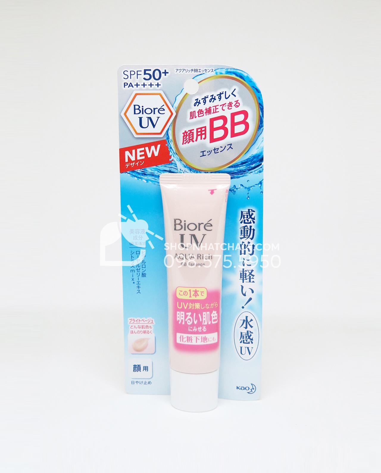 Kem chống nắng che khuyết điểm Biore Uv Aqua Rich Bb Essence Nhật Bản