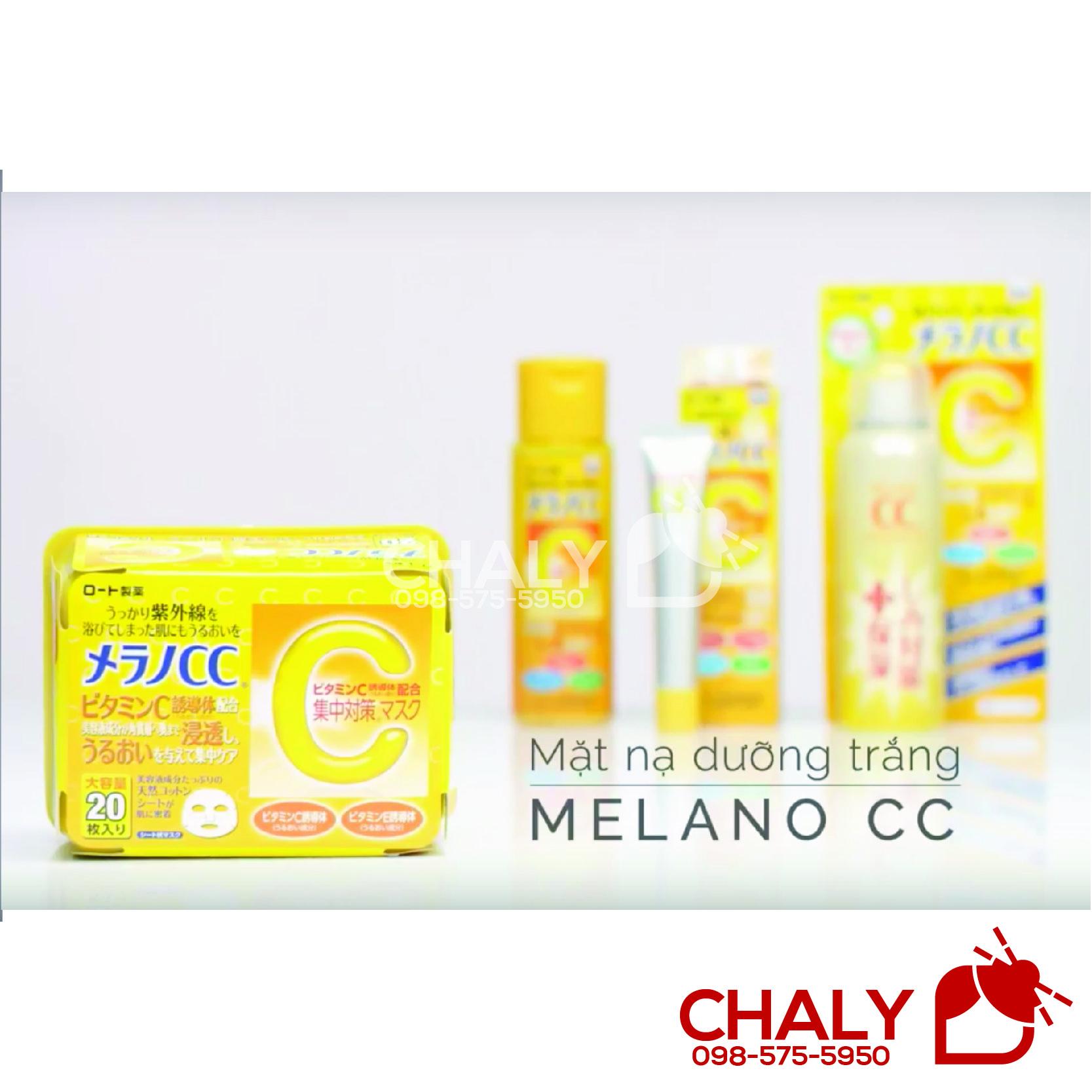 Set dưỡng trị thâm Melano CC còn có: Nước hoa hồng, Serum tinh chất và Xịt khoáng