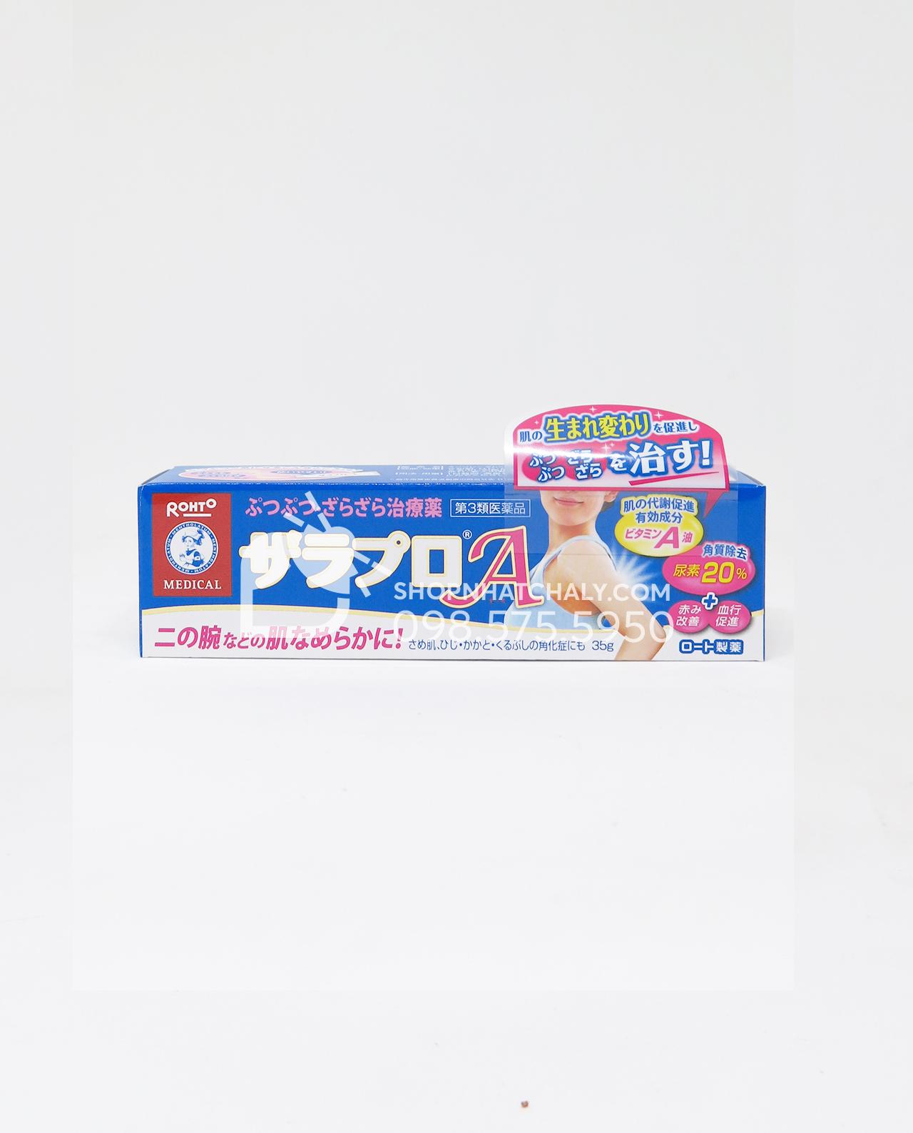 Kem trị viêm nang lông Zaraporo Rohto là sản phẩm thống trị thị trường Nhật Bản về dòng kem đặc trị viêm nang lông, còn gọi là viêm lỗ chân lông. Kem trị viêm nang lông Zaraporo Rohto Nhật 35gr đã có mẫu mới